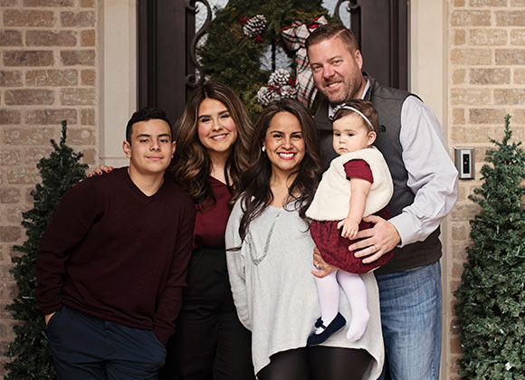 Jeremy Brim, home inspector and owner of Brillo Home Inspections, pictured with his family.
